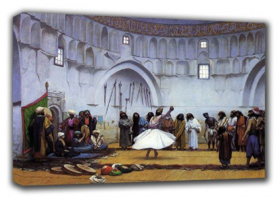 Gerome, Jean Leon: Whirling Dervishes. Fine Art Canvas. Sizes: A3/A2/A1. (002853)